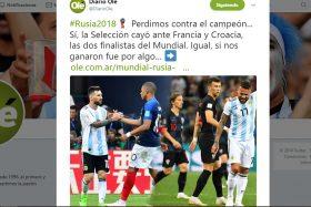 diario olé, troleo, argentina, rusia 2018