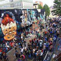 Primer festival de graffiti se toma las calles de Valparaíso en Chile