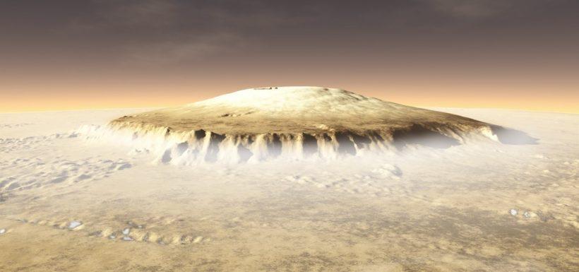 [VIDEO] Revelan imágenes de un volcán haciendo erupción en Marte